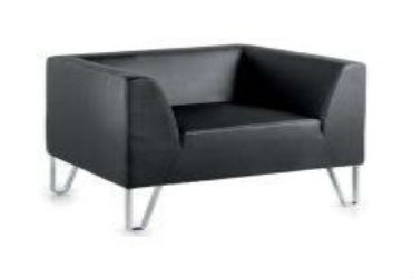 Black-Professional-Single-Seater-Sofa