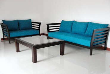 Wooden-Blue-Cushion-Sofas-in-Bangalore